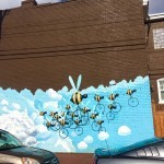 Bees RVA Mural Project Street Art| Packs Light