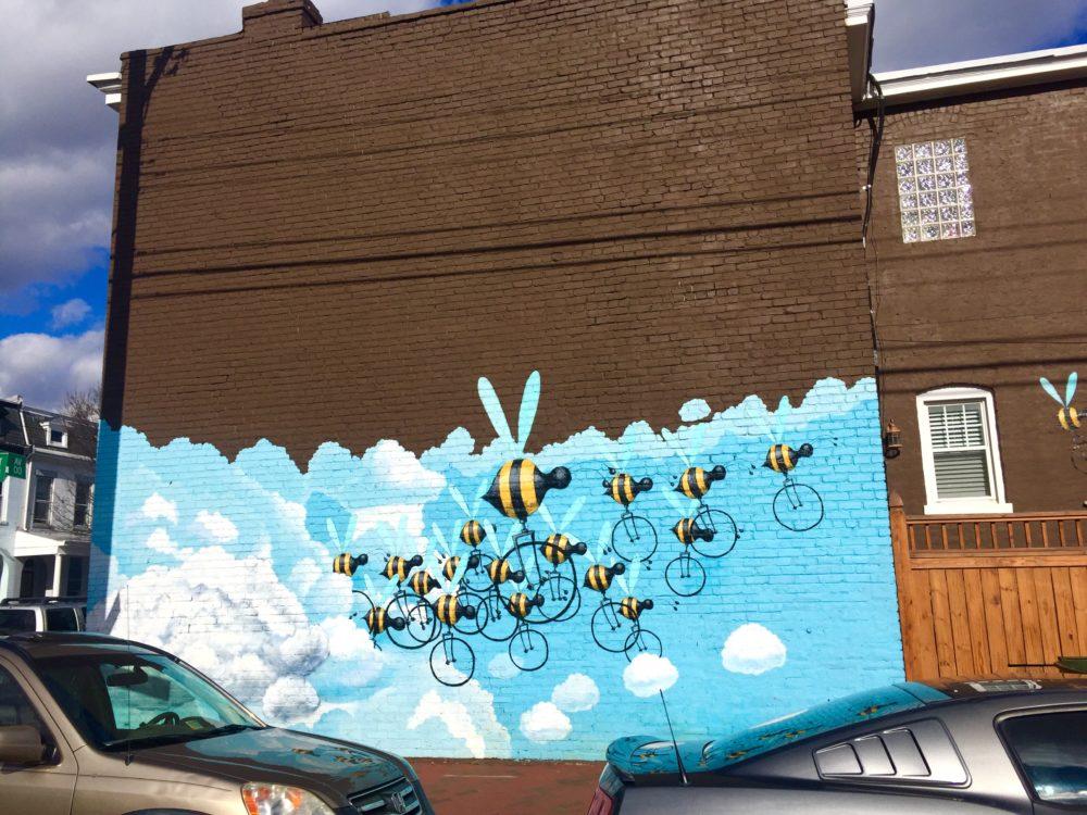 Bees RVA Mural Project Street Art| Packs Light