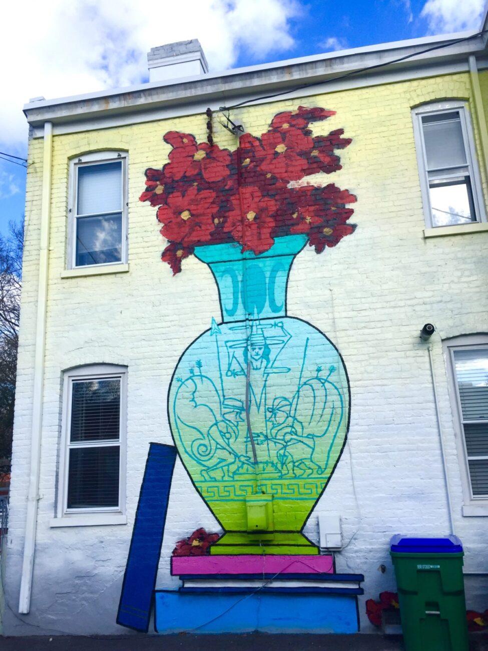 RVA Mural Project Street Art | Packs Light | Vase