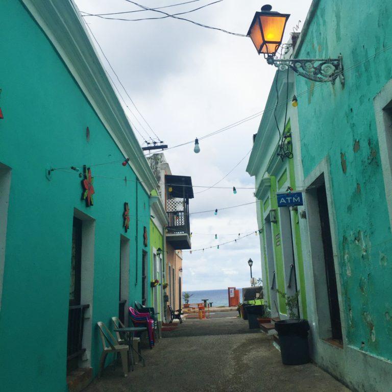 Old San Juan Puerto Rico Alleyway