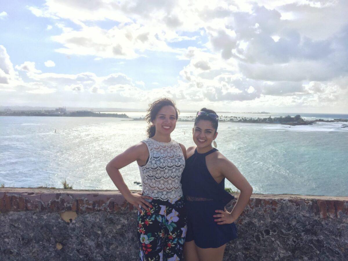 Hannah and I at El Morro Puerto Rico