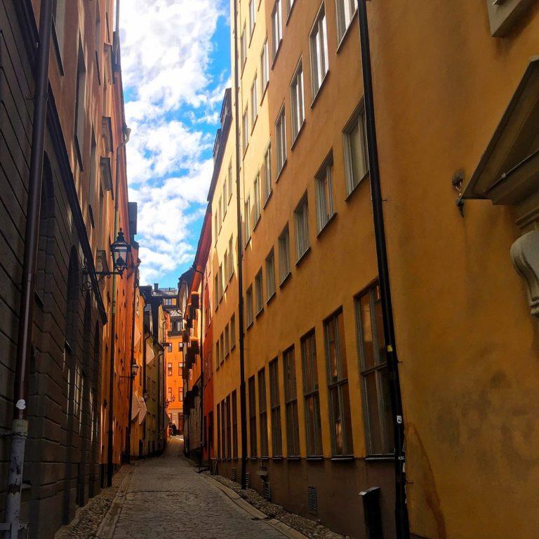 Gamla Stan Stockholm Sweden Packs Light Gamla Stan