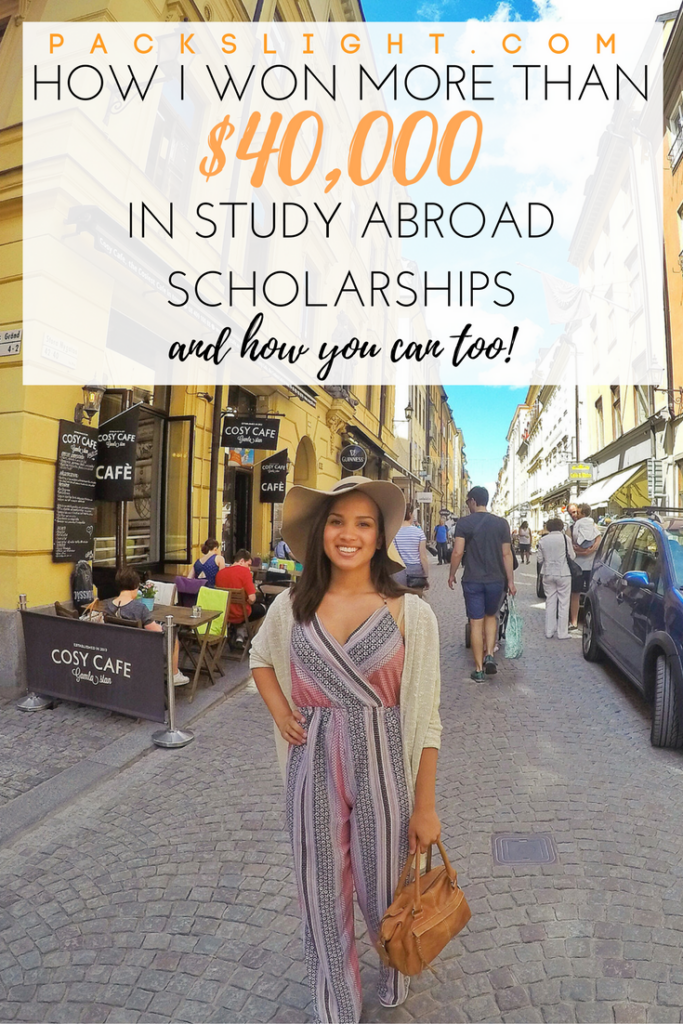 "I'll show you step-by-step how I won more than $40K in study abroad scholarships and give you the tools to do it yourself. You'll never say, ""I just don't have the money"" again. Pack your bags!"