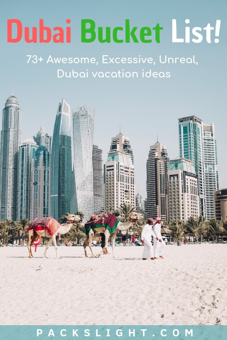 This bucket list is full of exciting ideas to show you the most Dubai has to offer, whether you're there for a year or an extended weekend. #Dubai #ThingsToDoInDubai #MiddleEast