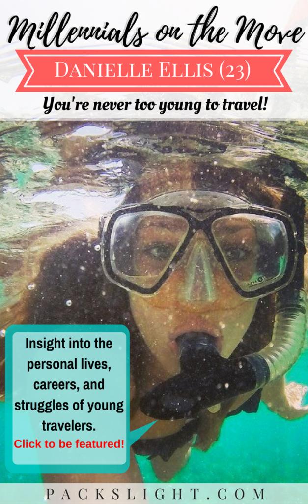 MOTM Danielle Ellis (23) | Millennial Traveler Adventure Young | Packs Light
