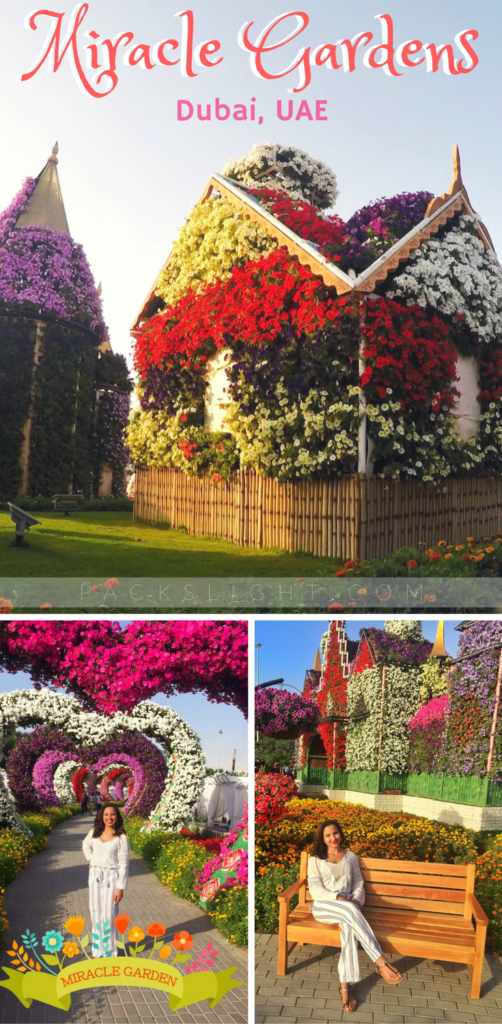 A review of gorgeous Miracle Gardens, a lush garden in the Dubain desert!