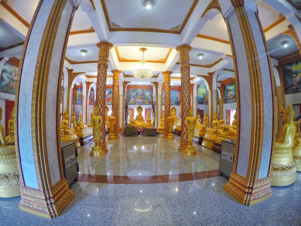Inside of Wat Chalong Temple   Thailand, Spring Break