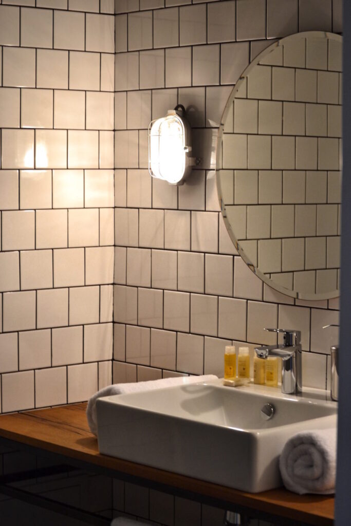 Bathrooom Sink Close Up - Fabrika Hostel Tbilisi | Packs Light