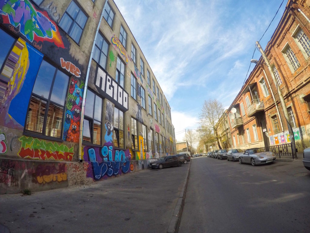 Outside Graffitti - Fabrika Hostel Tbilisi | Packs Light