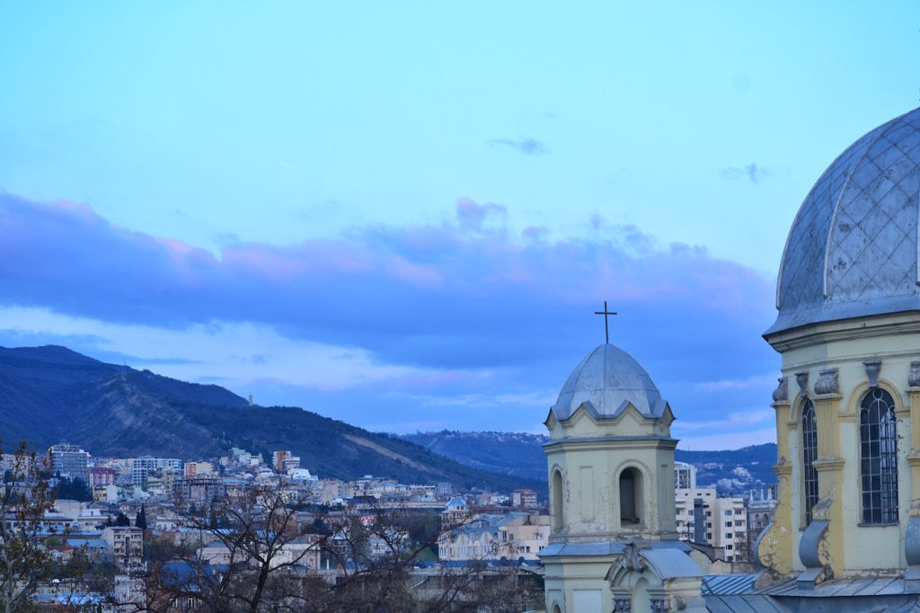 View from Terrace Suite- Fabrika Hostel Tbilisi   Packs Light