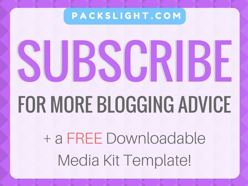 Subscribe for more Blogging Info | Packs Light