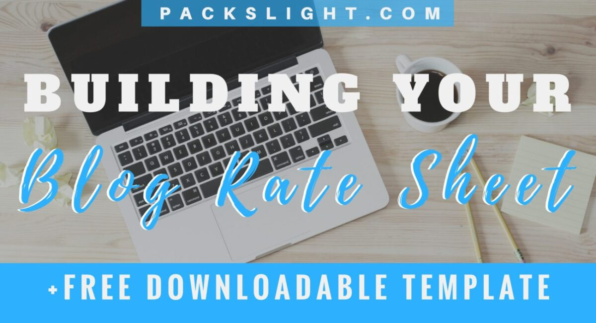 Building your Blog Rate Sheet