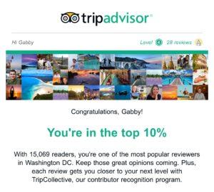 TripAdvisor Award Female Travel Blogger | Packs Light