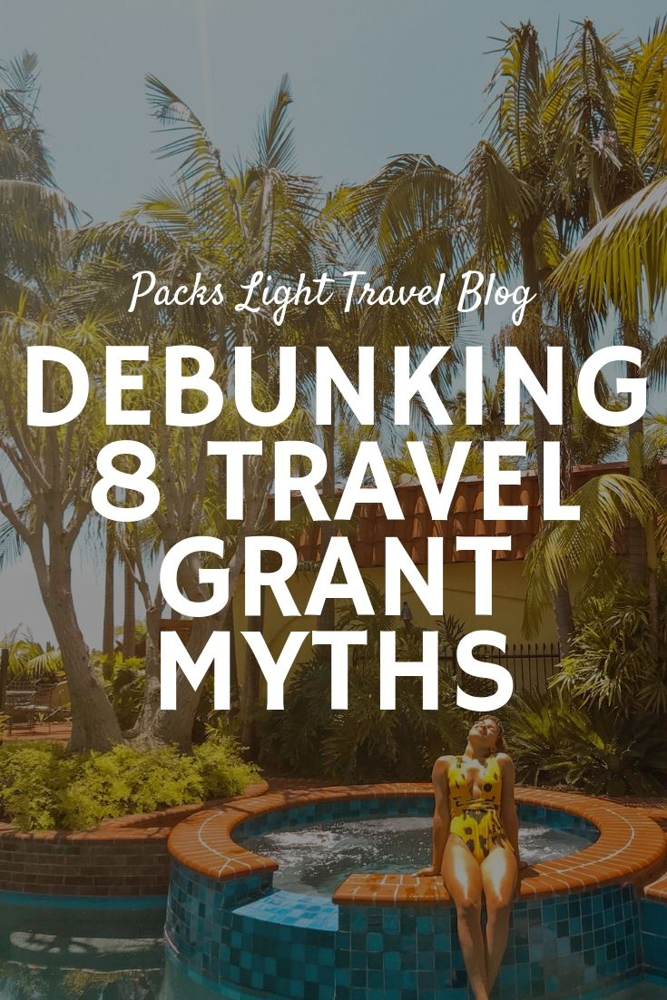 Debunking 8 myths about study travel grants, study abroad scholarships, and funded travel opportunities. You CAN win them! #fundedtravel #travelgrants #scholarships #studyabroadscholarships #travelgrants #boren #fulbright