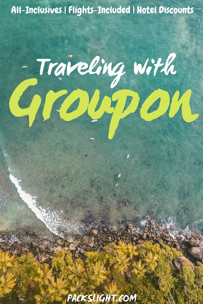 How to save money by booking all-inclusive, flight included, gorgeous hotels with pre-made itineraries at 1/3 of the normal cost? Try traveling with Groupon! #budgettravel #groupon #groupontravel #cheaptravel #savemoneytravel #groupontips