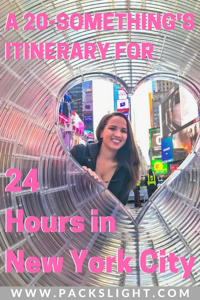 Another itinerary on how to spend 24 hours in New York City, from a 22 year olds perspective!