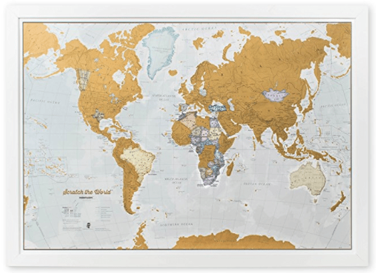 Travel Scratch Map Graduation Gift