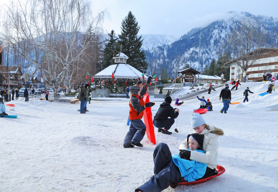 Leavenworth WA Sledding | Packs Light