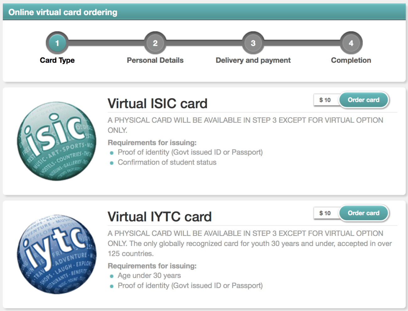ISIC IYTC Travel Insurance Benefits Card | Packs Light