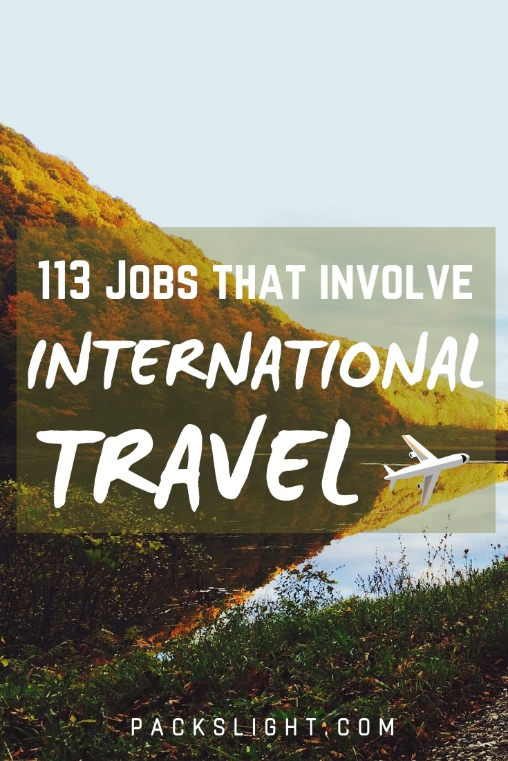 Interested in a job with freedom and flexibility but that pays enough to help pay off those student loans? Get inspiration from this list of 113+ jobs travel internationally. #jobsthattravel #internationaljobs #traveljobs #flightattendant
