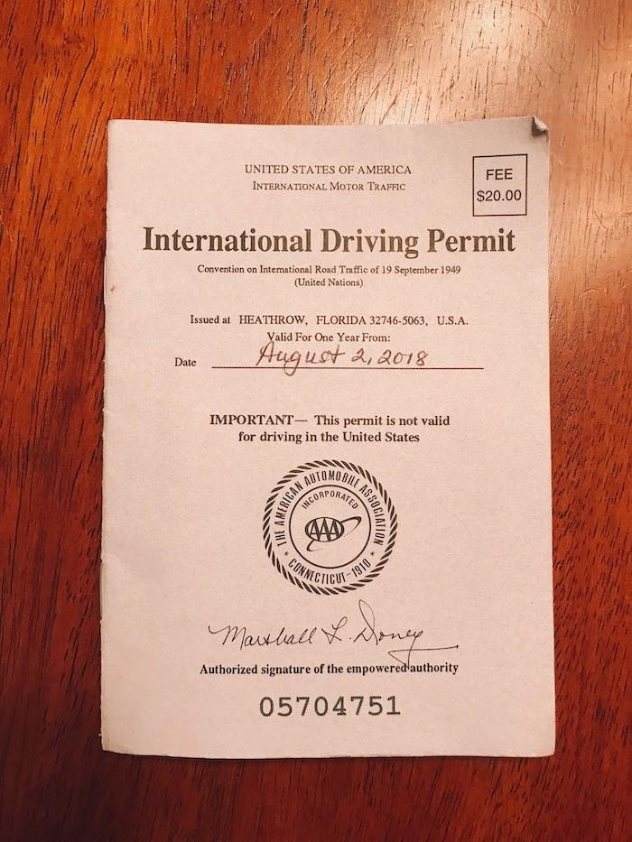 International Drivers Permit Street Kart MariCAR Tokyo Japan