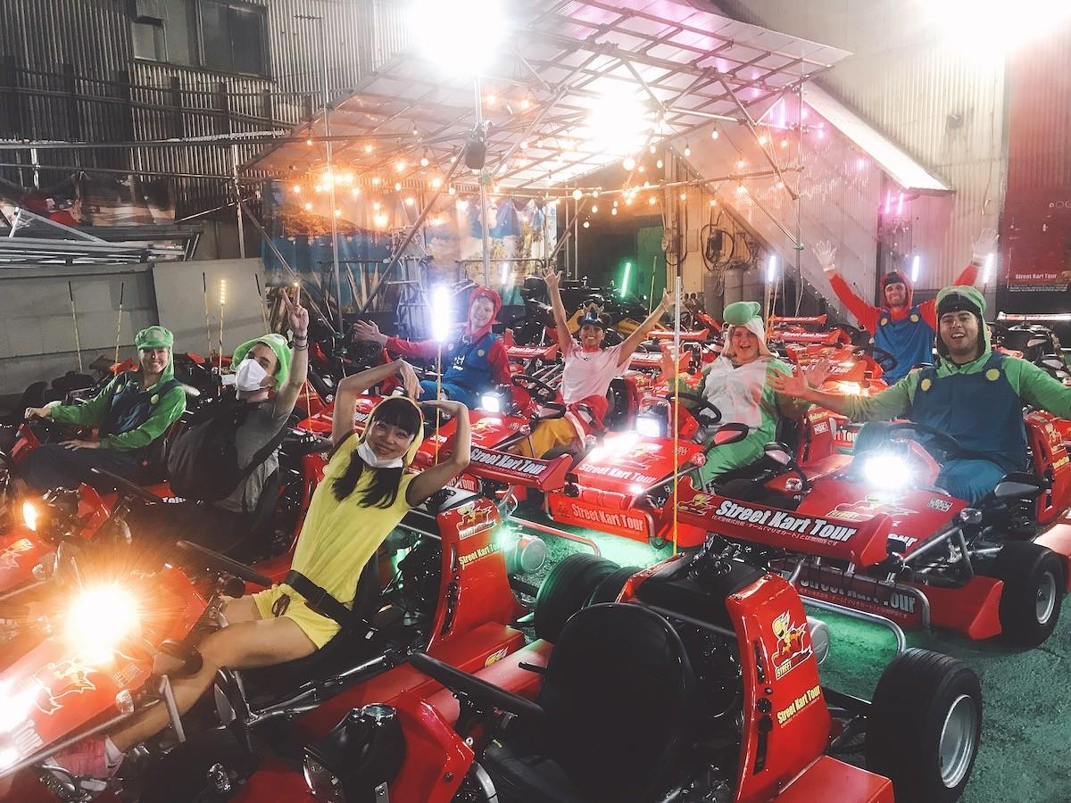 Japan Tokyo Mario Kart Racing