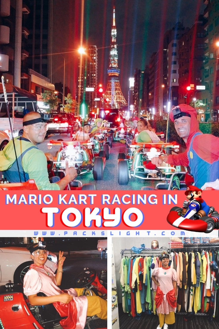 If you love adventurous, once in a lifetime, bucket list activities, you CANNOT miss this if you ever travel to Japan. Race through the streets of Tokyo, Osaka, Kyoto, or Okinawa wearing anime costumes! #Tokyo #Japan #Bucketlist #Adventure #racing