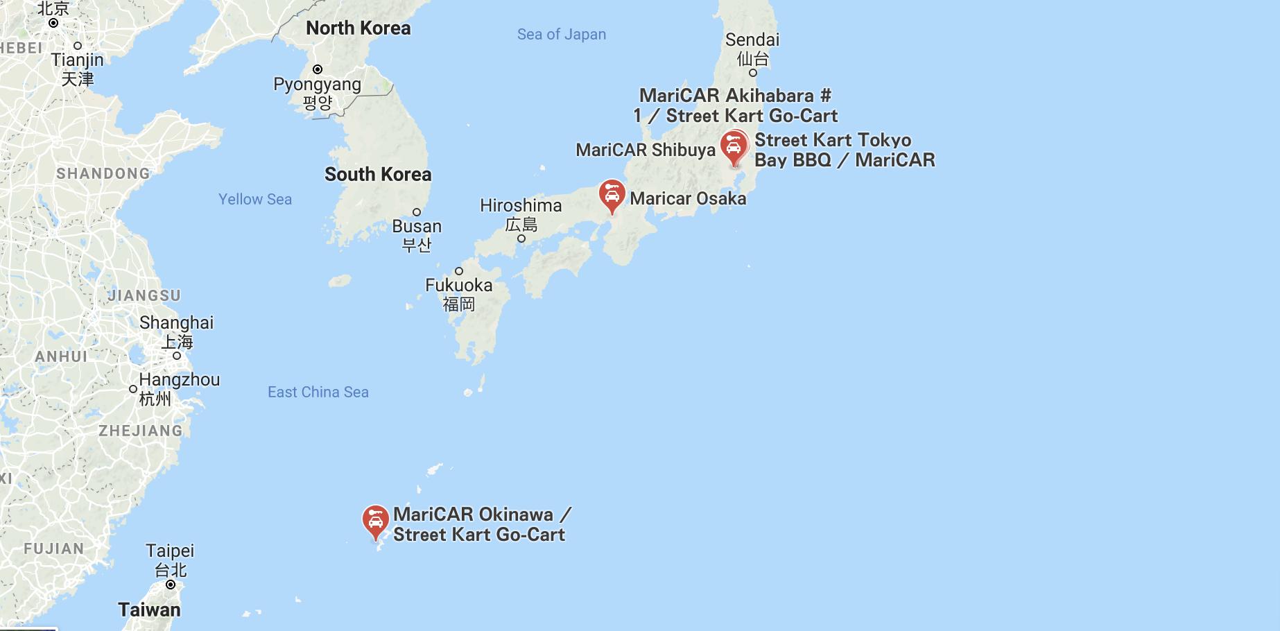 Tokyo MariCAR Locations - Packs Light