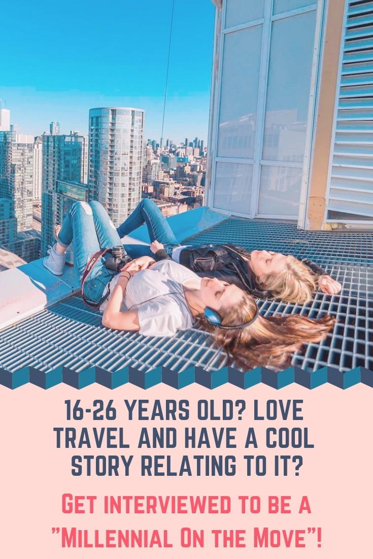 16-26 years old and interested in being interviewed on an amazing travel or study abroad story? Live remotely? Travel for a job? Share your story! #travel #millennial #college #motm #studyabroad