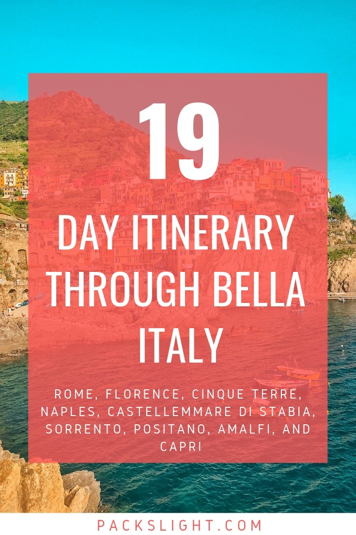 From Rome to Amalfi to Cinque Terre, this 3 week itinerary will let you get the most out of your Italian vacation. #Italy #ItalyItinerary #itinerary #cinqueterre #rome #florence #chianti