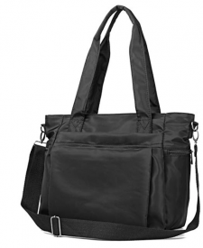 Black Travel Handbag Zip Amazon Packs Light
