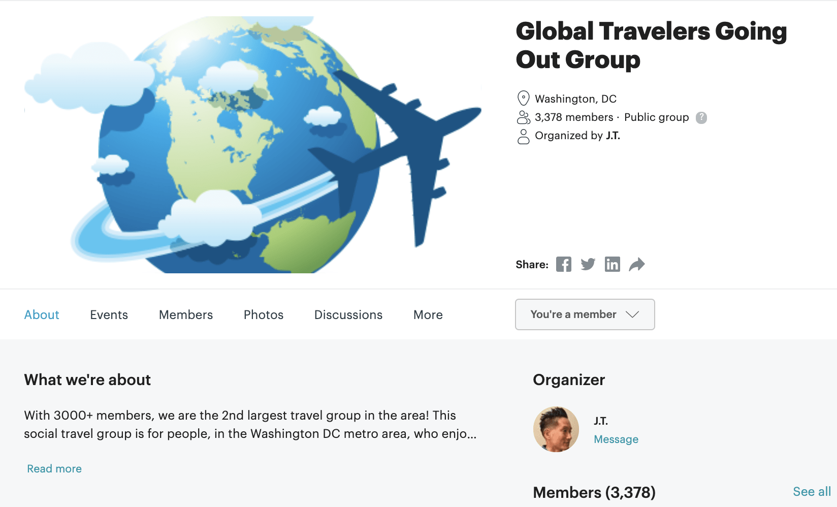 Meetup International Travel Group ss