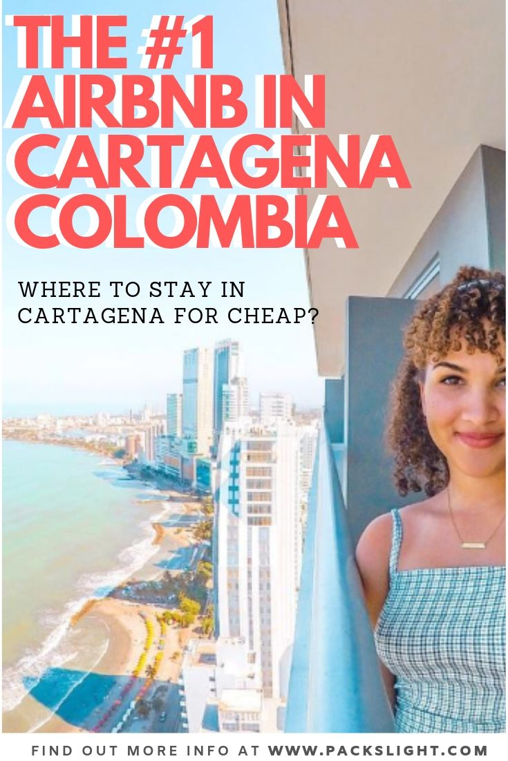 Where should solo female travelers stay in Cartagena? Find out best Airbnb in Cartagena (maybe all of Colombia!) with the best view. #colombia #cartagena #airbnb #wheretostay #solotravel