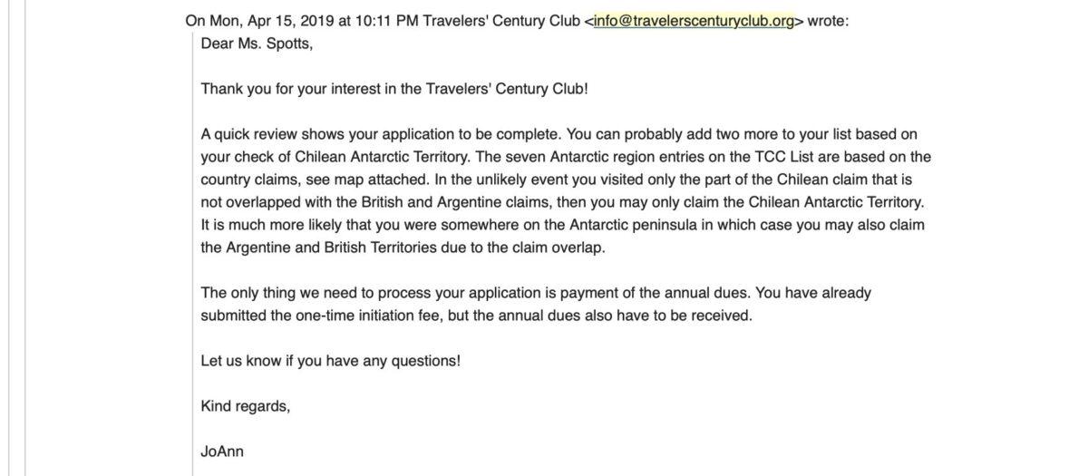 Traveler's Century Club - Woni Spotts