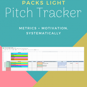 Blogging Pitch Tracking Spreadsheet