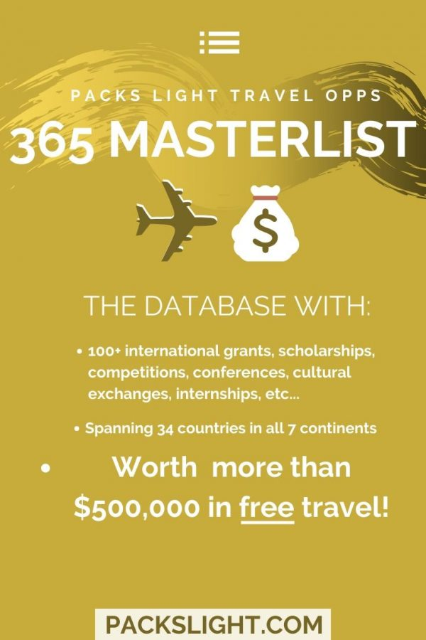 More than $500,000 in free travel opportunities like grants and conferences, across 34 countries and all 7 continents... and the list grows every day!