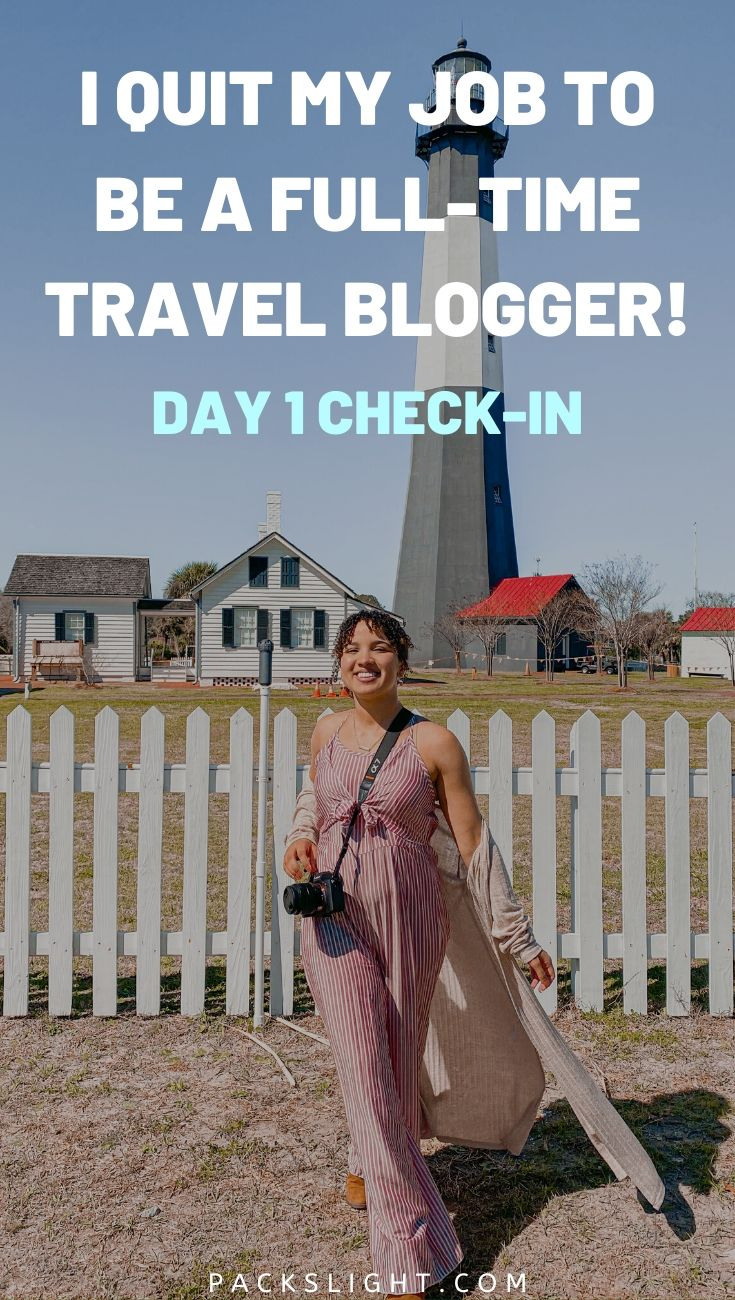 I Quit My Job to Be a Full-Time Travel Blogger... See how it's going after my first full day full time. Press trips, anxieties, and adventure, included. #travelbloggers #travelblogging #Blogging