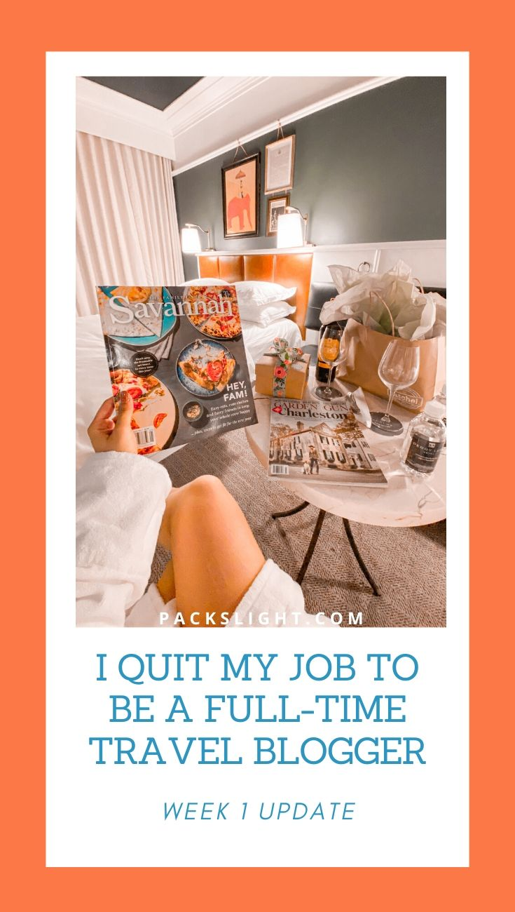I Quit My Job to Be a Full-Time Travel Blogger... See how it's going after 1 week full time. Press trips, anxieties, and adventure, included. #travelbloggers #travelblogging #Blogging