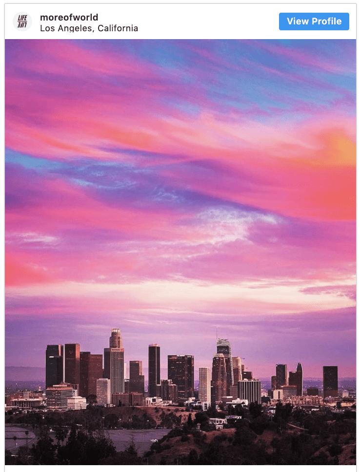Sunset Los Angeles Skylines