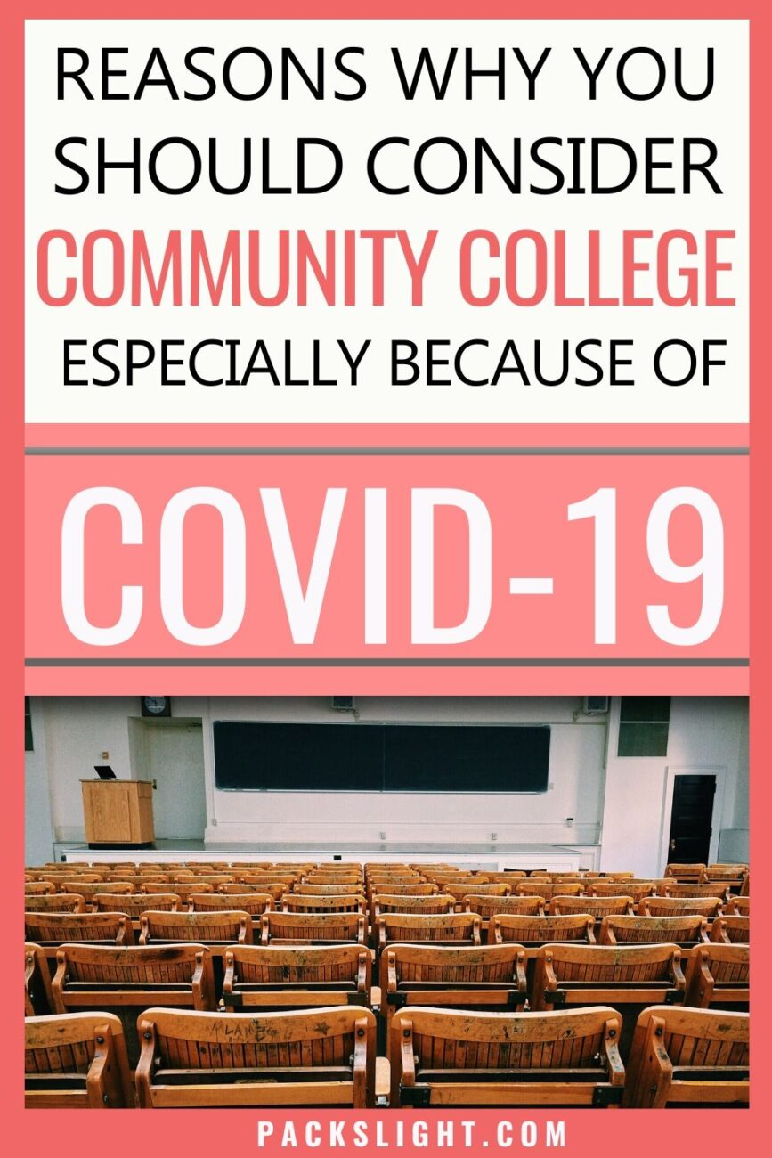 As more universities commit to online classes because of COVID-19 both high school and college students should seriously consider community college! #college #collegetips #study #finance #budgettips
