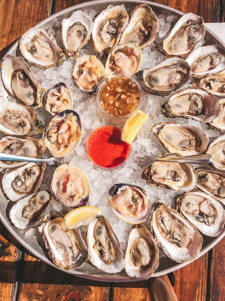 Buck-a-shuck oysters,