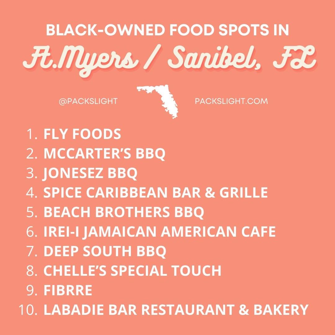 Black-Owned Eateries in Ft. Myers, Cape Coral, Sanibel, FL