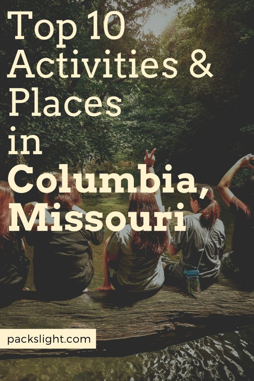 Check out the top 10 activities and places in Columbia, Missouri! This Midwestern college town always has fun things to do here.