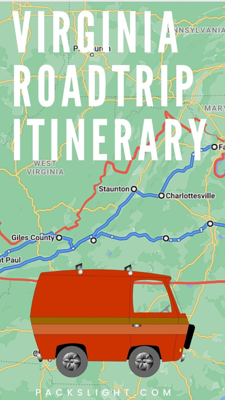 A young person's everything idea guide to an extraordinary 2 week roadtrip through all the far corners of Virginia. #roadtrip #travel #itinerary