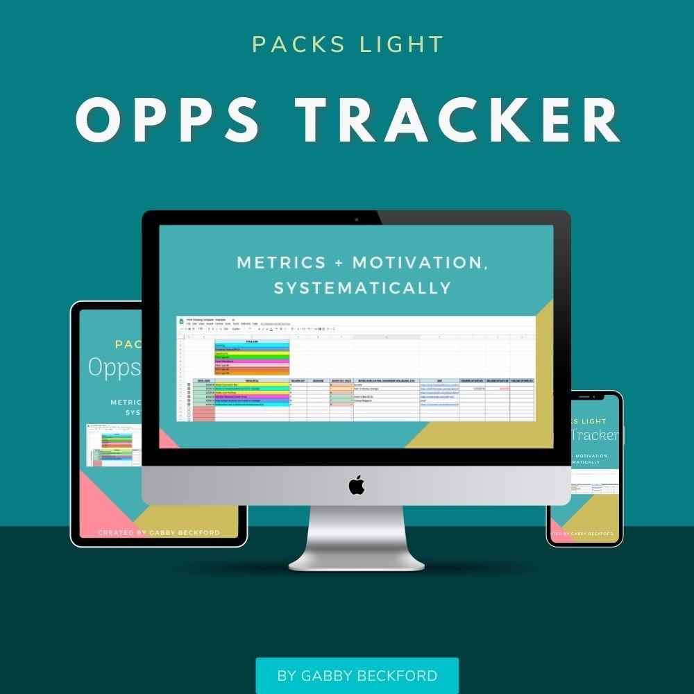 Opps Tracker Store Graphic