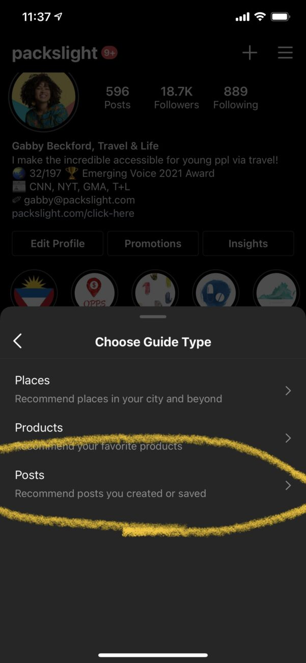 Combine Other's Cotnent Into Your Instagram Guide