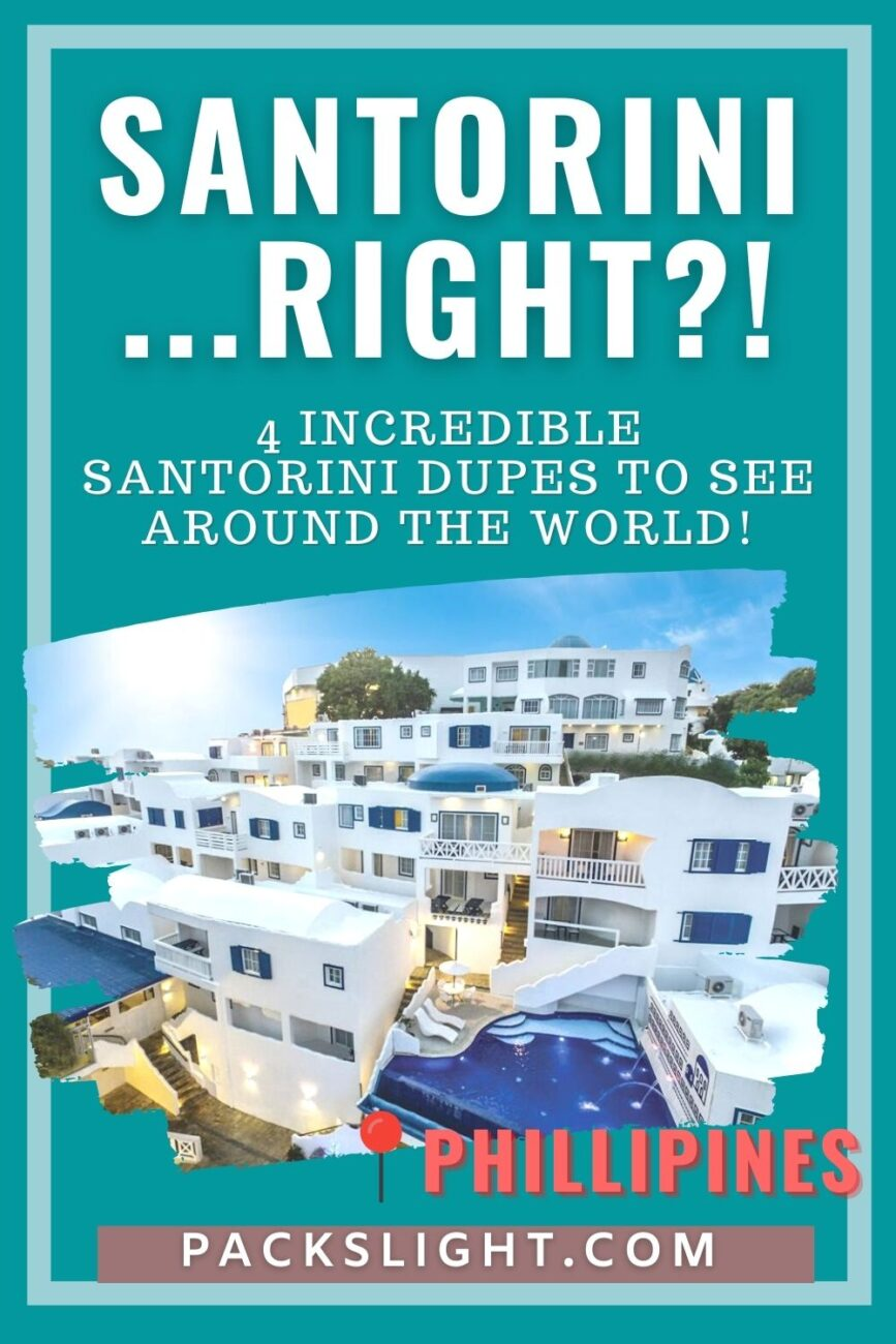 Will the real Santorini please stand up? It's hard to tell with all of these near-perfect dupes around the world.