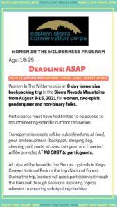 Women in the Wilderness Program