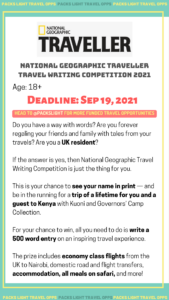 NATIONAL GEOGRAPHIC TRAVELLER TRAVEL WRITING COMPETITION 2021