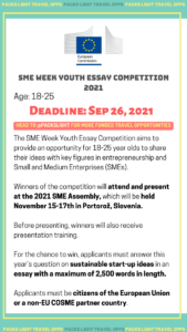 SME WEEK YOUTH ESSAY COMPETITION 2021